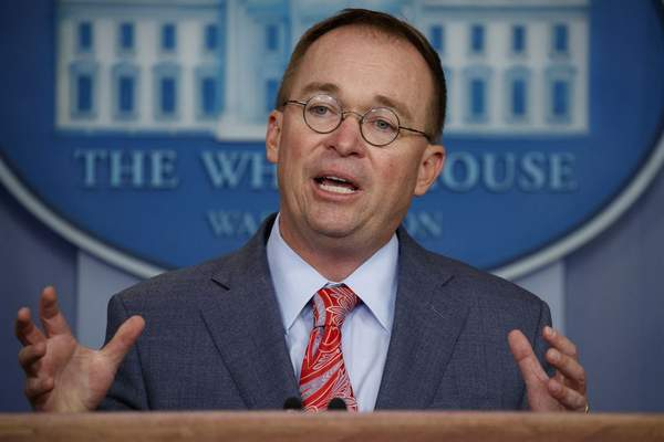 n this Oct. 17, 2019 file photo, acting White House chief of staff Mick Mulvaney speaks in the White House briefing room in Washington. (AP Photo/Evan Vucci, File)