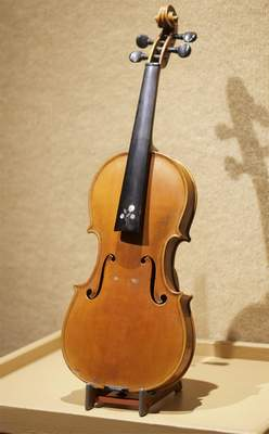 The Wedding Violin is one of the many instruments on display for the