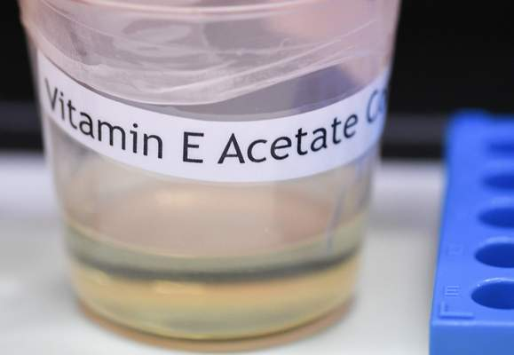 Vitamin E acetate was found in fluid taken from 29 lung-injury patients who vaped, the CDC said Friday. (Associated Press)