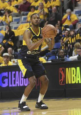 Katie Fyfe | The Journal Gazette  The Mad Ants' C.J. Wilcoxlooks to take a shotduring the fourth quarter against the Long Island Nets at Memorial Coliseum on Saturday.