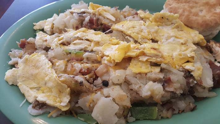 The Kitchen Sink scramble from Leo Cafe.