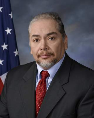 This image provided by Easterling Studios shows Dayton Police Det. Jorge Del Rio. Authorities say a Del Rio, who was shot in the face Monday, Nov. 4, 2019, while serving a drug-related warrant died Thursday, Nov. 7, 2019, after being taken off life support.  (Easterling Studios via AP)