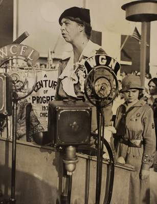 Associated Press In this Nov. 1, 1933, photo, Eleanor Roosevelt speaks during Women's Day at the World's Fair in Chicago.