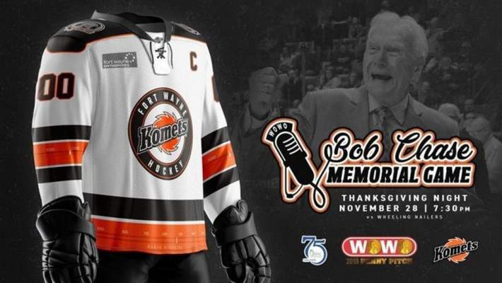 Courtesy  The Bob Chase Memorial Game jerseys will be raffled off by the Komets.