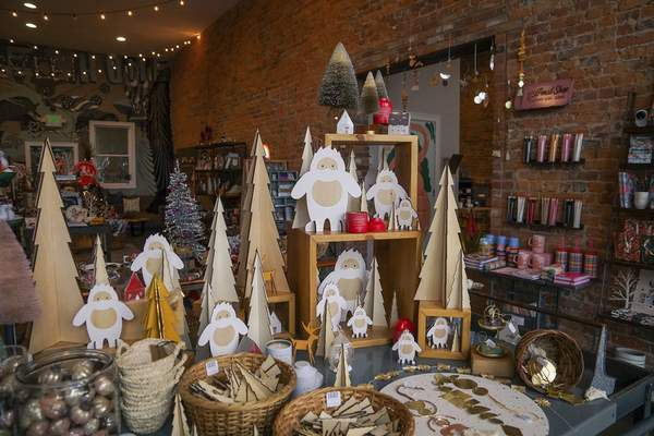 Mike Moore | The Journal Gazette Various holiday decorations and items on display for sale at Fancy & Staple at 1111 Broadway St. on Tuesday 11.19.19