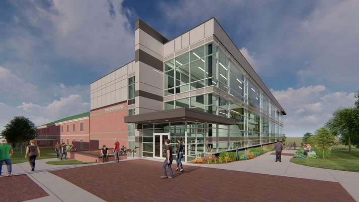 Courtesy  Renderings show the planned expansion to Trine University's engineering facilities.
