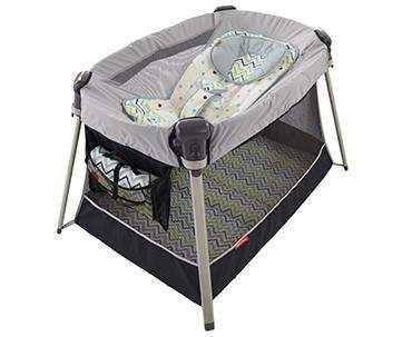 Recalled Fisher-Price inclined sleeper accessory for Ultra-Lite day and night play yards.