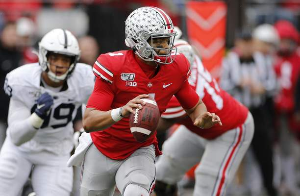 Ohio State quarterback Justin Fields, who transferred from Georgia, is starting in The Game.