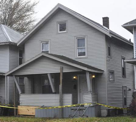 Michelle Davies | The Journal Gazette A home on Lafayette Street was struck by a vehicle  Nov. 22. When a home is struck by a vehicle, it can often lead to the house becoming condemned.