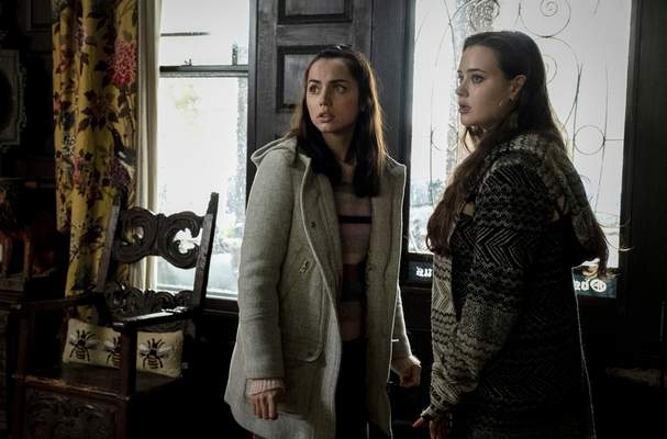 """Lionsgate Ana de Armas, left, and Katherine Langford are part of an ensemble cast in the whodunnit """"Knives Out."""""""