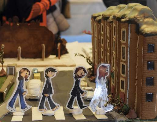 "The 50th anniversary of the release of The Beatles' ""Abbey Road"" was the inspiration for a display at this year's Festival of Gingerbread."