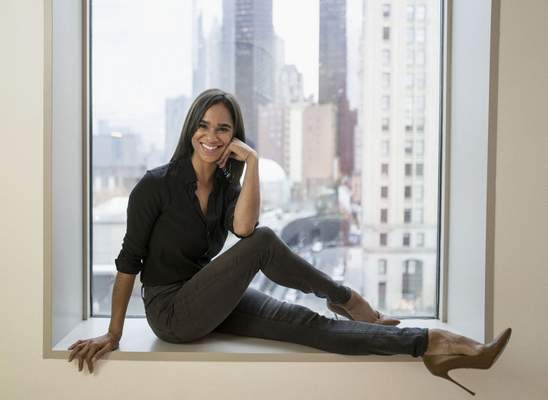 In this Nov. 19, 2019, photo, Misty Copeland poses for a portrait in New York. No other ballet dancer has crossed over into mainstream popular culture like Misty Copeland. (Photo by MattLicari/Invision/AP)