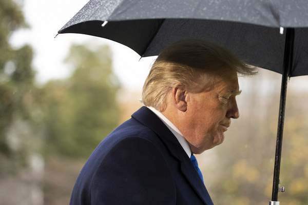 President Donald Trump walks to Marine One after speaking with reporters on the South Lawn of the White House before departing, Monday, Dec. 2, 2019, in Washington. (AP Photo/Alex Brandon)