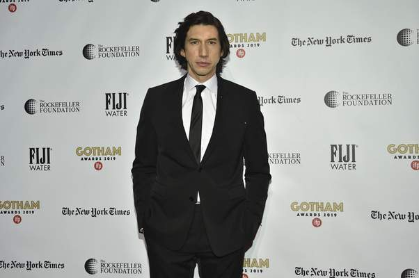 Adam Driver attends the Independent Filmmaker Project's 29th annual IFP Gotham Awards at Cipriani Wall Street on Monday Dec. 2, 2019, in New York. (Photo by Evan Agostini/Invision/AP)