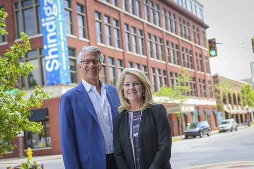 Courtesy Shep and Wendy Moyle moved their online party supplies company, Shindigz, to downtown Fort Wayne this year. On Thursday, they talked about the mistakes the made while buying the company.