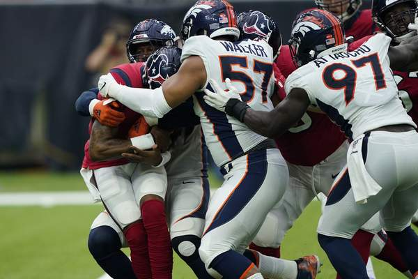 Lock Throws 3 Tds In First Half As Broncos Beat Texans 38 24