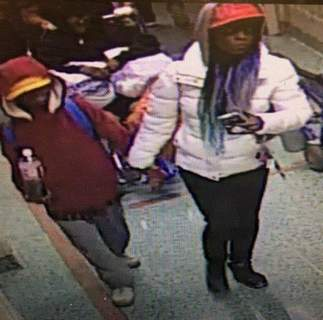 Abandoned at Hospital In this image taken from surveillance video released by the Atlanta Police Department, a woman escorts a young man into Grady Memorial Hospital in Atlanta on the night of Wednesday, Dec. 4, 2019. (Atlanta Police Department via AP) (HOGP)