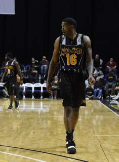 Rachel Von Stroup | The Journal Gazette  The Mad Ants' C.J. Wilcox during the first quarter against the Bayhawks at Memorial Coliseum on Friday night.  (Rachel Von Stroup | The Journal  Rachel Von Stroup | The Journal)