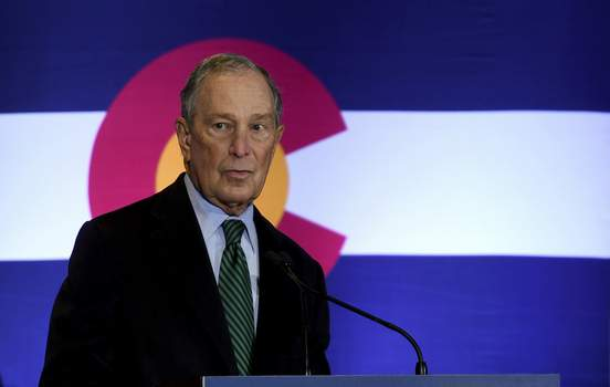 Election 2020 Bloomberg Democratic presidential contender Michael Bloomberg speaks to gun control advocates and victims of gun violence in Aurora, Colo., on Thursday, Dec. 5, 2019. The billionaire former New York City mayor unveiled a gun control policy just steps from one of Colorado's worst mass shootings, calling for a ban on all assault weapons. (AP Photo/Thomas Peipert) (Thomas Peipert STF)