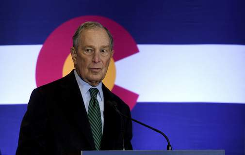 Election 2020 Bloomberg Democratic presidential contender Michael Bloomberg speaks to gun control advocates and victims of gun violence in Aurora, Colo., on Thursday, Dec. 5, 2019. The billionaire former New York City mayor unveiled a gun control policy just steps from one of Colorado's worst mass shootings, calling for a ban on all assault weapons. (AP Photo/Thomas Peipert) (Thomas Peipert