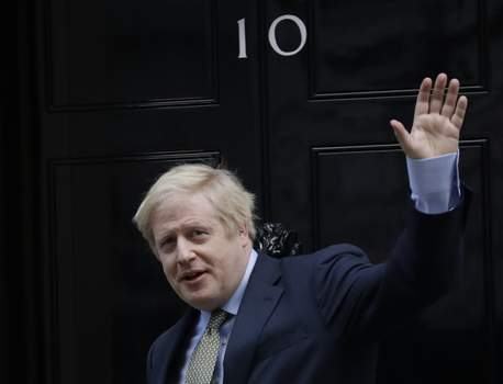 APTOPIX Britain Brexit Election Britain's Prime Minister Boris Johnson returns to 10 Downing Street after meeting with Queen Elizabeth II at Buckingham Palace, London, on Friday, Dec. 13, 2019. Prime Minister Boris Johnson's Conservative Party has won a solid majority of seats in Britain's Parliament â€