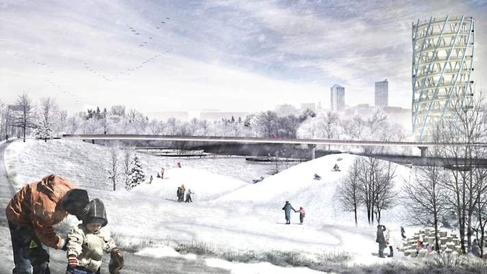 Courtesy DAVID RUBIN Land Collective Artist's renderings for Phase III of riverfront development include a