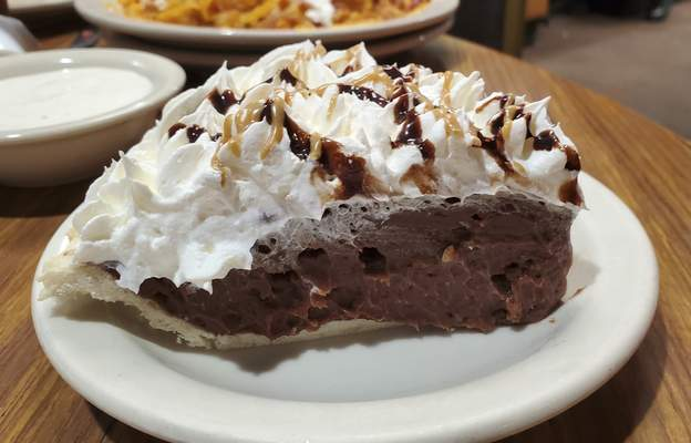 Chocolate-peanut butter pie from The Country Post in Huntington.