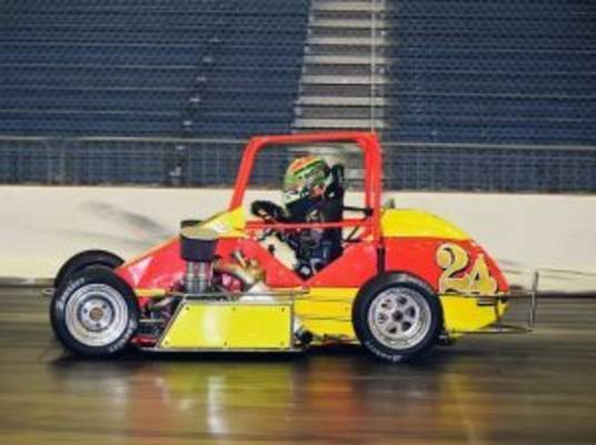 Courtesy photo  Former World of Outlaws champion Rico Abreu, who stands just 4-foot-10, attempted to qualify for the 2018 Rumble in Fort Wayne, but failedbecause ofbroken equipment suffered during practice.Over 100 races are set to be contested during the two-day racing event featuring go karts and midget race cars in a litany of classes, set for Friday and Saturday at the Coliseum Expo Center.