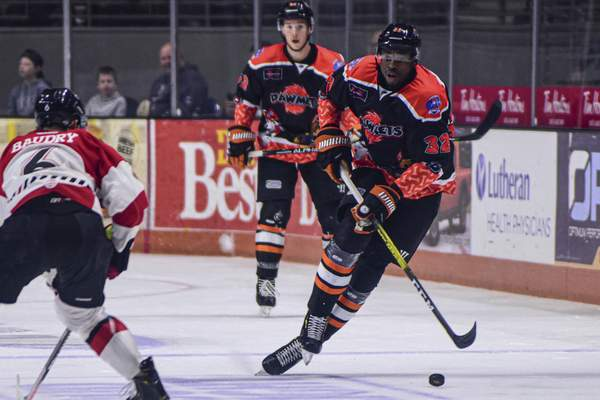 Mike Moore | The Journal Gazette When he was 5, the Komets' Jermaine Loewen was the only one of 18 kids in his Jamaican home eligible to be adopted.