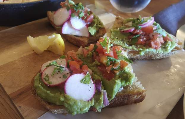 Ryan DuVall | The Journal Gazette  Solbird Kitchen on Dupont Road hit a home run with its Avocado Toast.