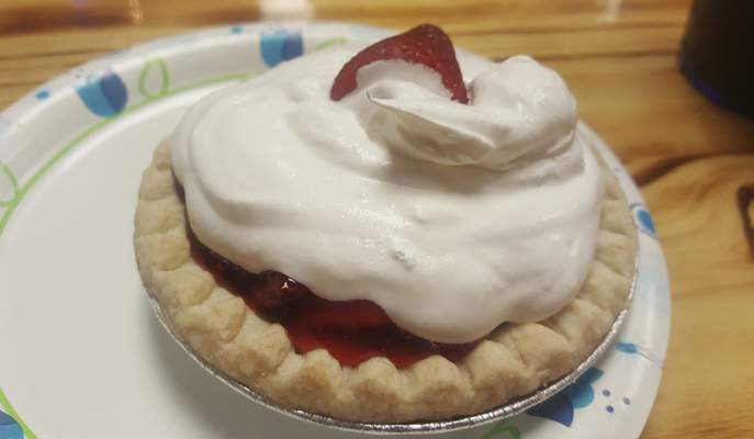 Strawberry mini pie from Smokehaus Barbecue Company in New Haven.