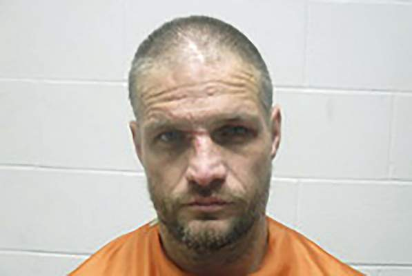 This Jan. 1, 2020, photo provided by the Creek County (Oklahoma) Sheriff's Department shows Brandon Wade Kirby. (Creek County Sheriff's Department via AP)