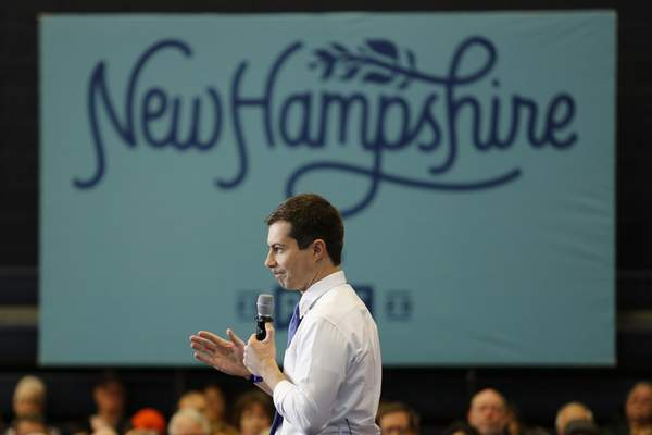 Democratic presidential candidate and former South Bend, Ind., Mayor Pete Buttigieg campaigns on Saturday, Jan. 4, 2020, in Nashua, N.H. (AP Photo/Mary Schwalm)