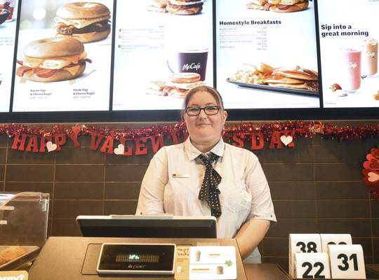 Amanda Ratton, general manager in Avilla who has been with McDonald's for 23 years,  will study business administration and culinary arts at Ivy Tech.