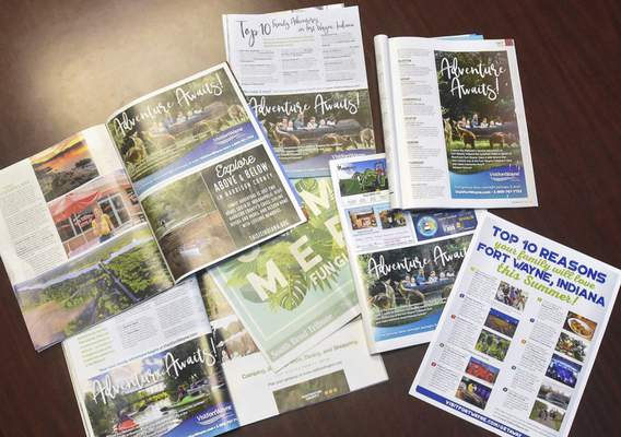 Michelle Davies | The Journal Gazette  Visit Fort Wayne continues to create pamphlets but has also turned to the internet for marketing.