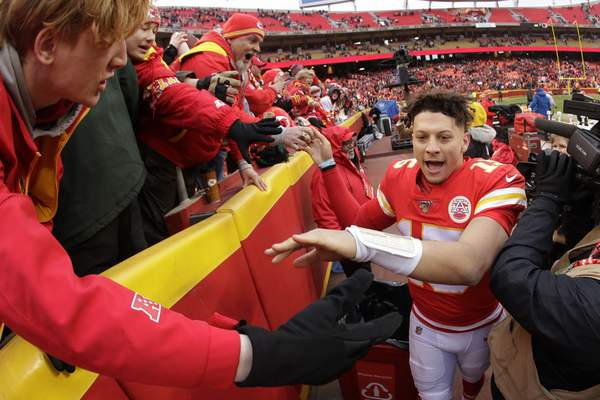 Associated Press Quarterback Patrick Mahomes will lead the Kansas City Chiefs against the Houston Texans today in a playoff matchup in Kansas City.