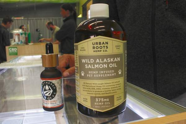 Wild Alaskan salmon oil is one of many CBD products intended as a supplement for pets. The CBD market  is expected to reach $1.7billion by 2023, experts say.