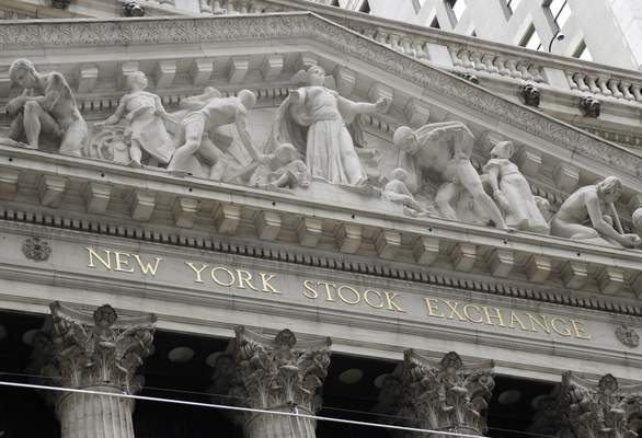 FILE - This Aug. 23, 2019, file photo shows the New York Stock Exchange in New York. (AP Photo/Frank Franklin II, File)