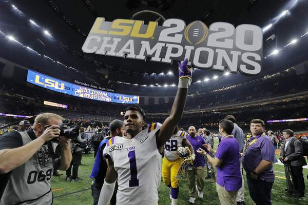 Associated Press LSU senior cornerback Kristian Fulton is among a talented group of players that the champs will have to replace next season.