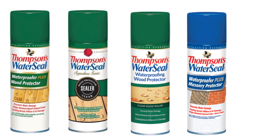 Recalled Thompsons WaterSeal aerosol wood and masonry protectors