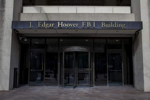 FILE - In this March 4, 2019, file photo, the J. Edgar Hoover FBI Building is seen in Washington. (AP Photo/Alex Brandon, File)