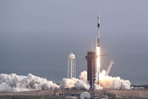 SpaceX Capsule Test A Falcon 9 SpaceX rocket lifts off from pad 39A during a test flight to demonstrate the capsule's emergency escape system at the Kennedy Space Center in Cape Canaveral, Fla., Sunday, Jan. 19, 2020. (AP Photo/John Raoux) (John Raoux