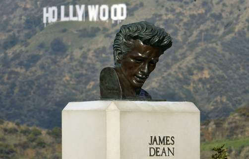Resurrecting James Dean This Friday, Jan. 17, 2020, photo shows a bust of actor James Dean at the Griffith Observatory in the Griffith Park area of Los Angeles. (AP Photo/Richard Vogel) (Richard Vogel STF)