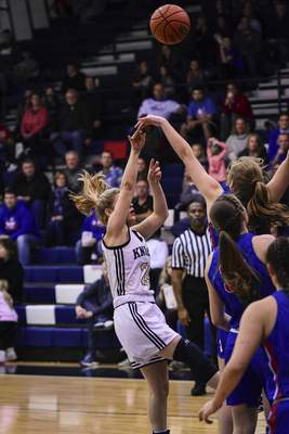 Mike Moore | The Journal Gazette Norwell junior Kaylee Fuelling takes a shot at the basket in the first quarter against Jay County at Norwell High School on Tuesday.