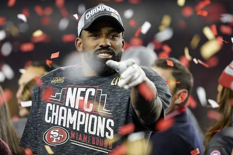 NFC Championship Packers 49ers Football Associated Press San Francisco  running back and former Purdue standout Raheem Mostert was cut by six NFL teams in 2015 and 2016 before sticking with the 49ers. (Tony AvelarSTF)