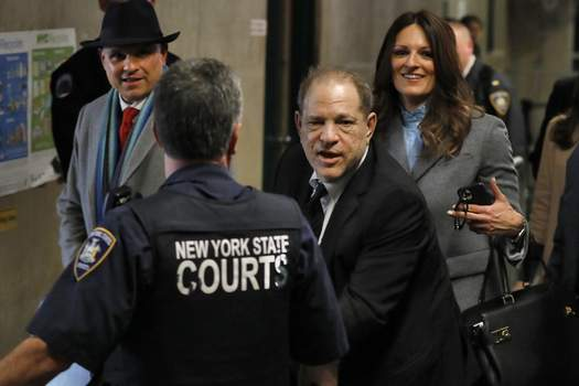 Sexual Misconduct Weinstein Associated Press Harvey Weinstein leaves court withtwo of his attorneys Wednesday in New York. (Richard DrewSTF)