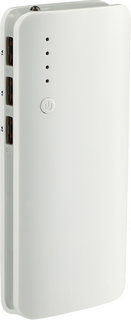 Front of recalled power bank that may have a company logo