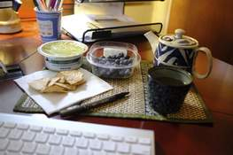 Food-Resolutions Associated Press Guacamole and chips and blueberries are a great way to eat healthier in the new year by making small and measurable changes.  (Ted AnthonyHONS)
