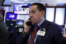Financial Markets Wall Street Trader Tommy Kalikas works on the floor of the New York Stock Exchange, Monday, Jan. 27, 2020. Stock tumbled at the open on Wall Street following a sell-off in markets in Europe and Japan as investors grow more concerned about the potential economic impact of an outbreak of a deadly coronavirus. (AP Photo/Richard Drew) (Richard Drew STF)