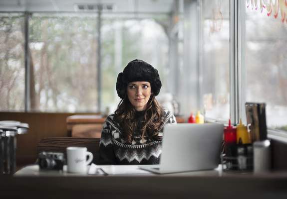 This undated image provided by Squarespace shows Winona Ryder in a scene from the company's 2020 Super Bowl NFL football spot. (Squarespace via AP)